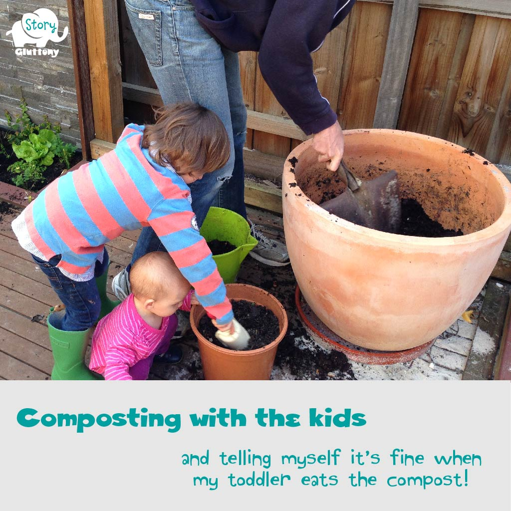 Composting with the kids